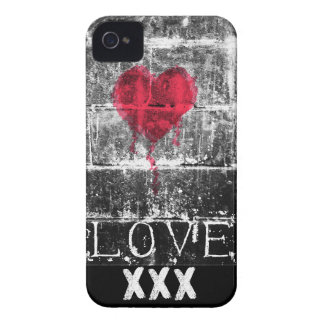 Grunge Punk Love Heart Brick Wall iPhone 4/4S case
