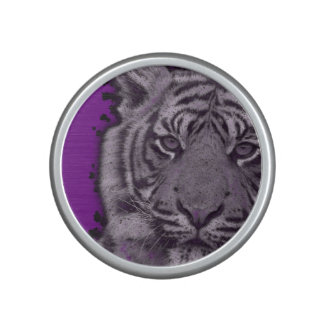 Grunge Purple Abstract Tiger Speaker