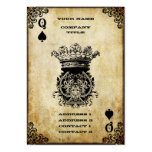 Grunge Queen of Spades Pack Of Chubby Business Cards