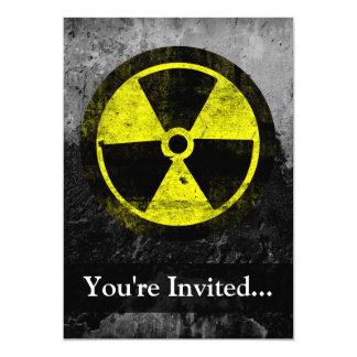 Grunge Radioactive Symbol Card