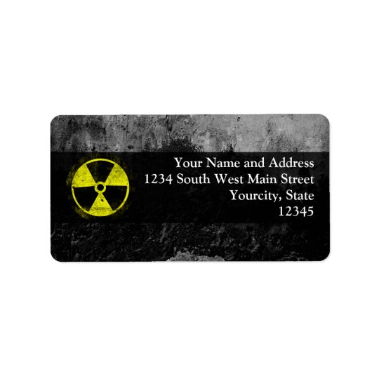 Grunge Radioactive Symbol Label