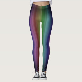 Grunge Rainbow Punk Rock Stripe Line Pattern Leggings