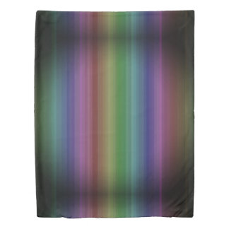 Grunge Rainbow Rock Stripe Line Pattern Duvet Cover