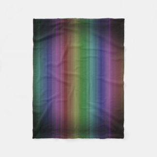 Grunge Rainbow Rock Stripe Line Pattern Fleece Blanket
