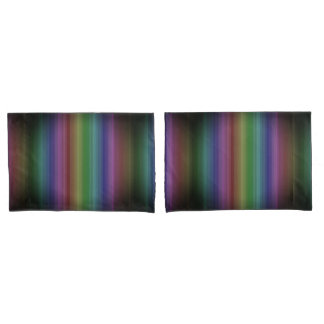 Grunge Rainbow Rock Stripe Line Pattern Pillowcase