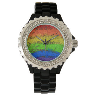 Grunge Rainbow Sidewalk Chalk Watch