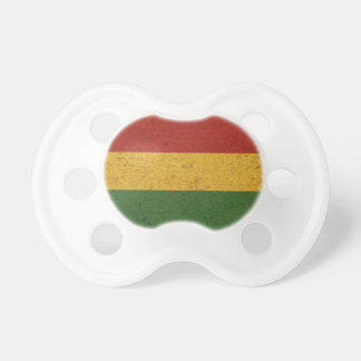 Grunge Rasta Colors Flag Pacifier