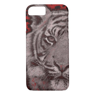 Grunge Red Abstract Tiger iPhone 7 Case