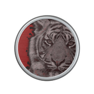 Grunge Red Abstract Tiger Speaker