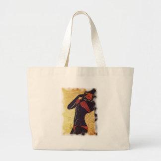Grunge red bikini detailed silhouette2 jumbo tote bag