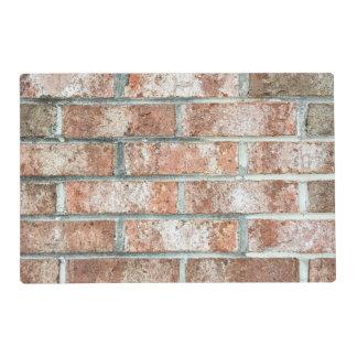 Grunge Red Brick Wall Brown Bricks Background Tan Laminated Place Mat