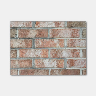Grunge Red Brick Wall Brown Bricks Background Tan Post-it Notes