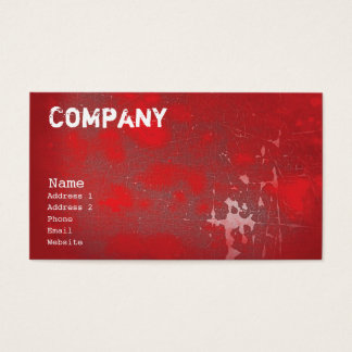Grunge Red Business Card