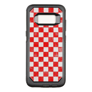 Grunge red checkered, abstract background OtterBox commuter samsung galaxy s8 case