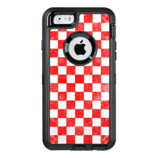 Grunge red checkered, abstract background OtterBox iPhone 6/6s case