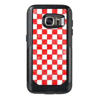Grunge red checkered, abstract background OtterBox samsung galaxy s7 case