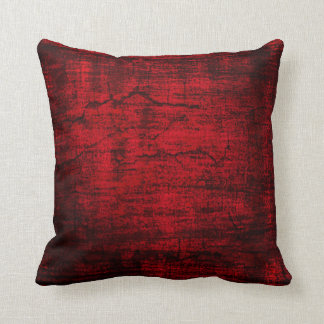 Grunge Red Paint abstract art Throw Pillow
