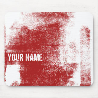 Grunge Red Paint Mouse Pad