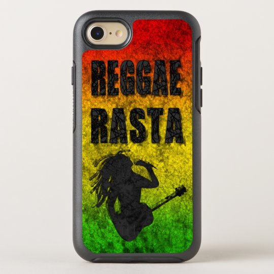 Grunge Reggae Music Rasta Rastaman Playing Guitar OtterBox Symmetry iPhone 8/7 Case