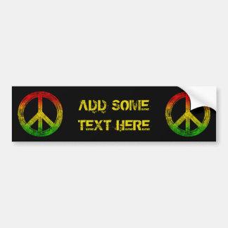 Grunge Reggae Rasta Peace Symbol Bumper Sticker