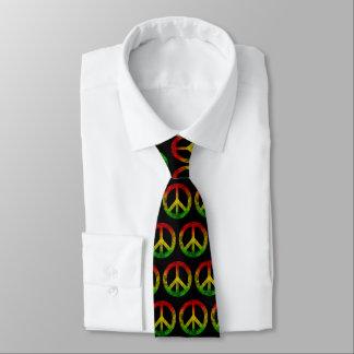 Grunge Reggae Rasta Rastafarian Peace Symbol Tie