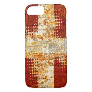 Grunge religious halftone cross iPhone 7 case