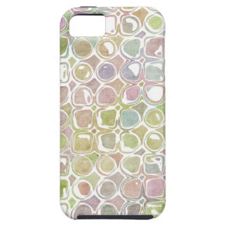 Grunge Retro Distressed Circle & Square Pattern iPhone 5 Case