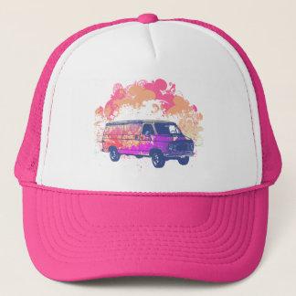 grunge retro hippie van trucker hat