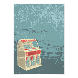 Grunge Retro Jukebox Card