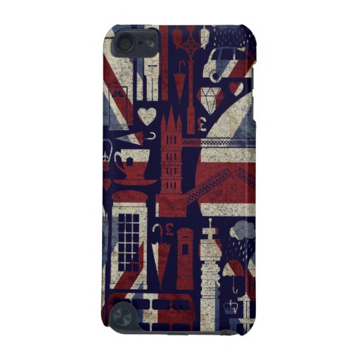 Grunge Retro Union Jack Love London Symbols iPod iPod Touch 5G Covers