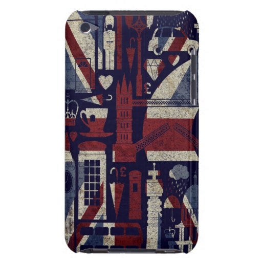 Grunge Retro Union Jack Love London Symbols iPod Barely There iPod Cases