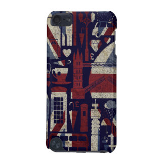 Grunge Retro Union Jack Love London Symbols iPod iPod Touch 5G Case