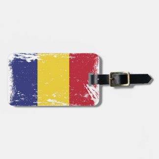 Grunge Romania Flag Luggage Tag
