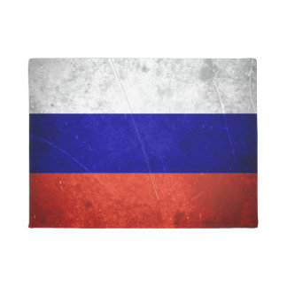 Grunge Russian Flag Doormat