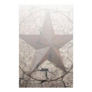 Grunge rustic Texas star western country art Custom Stationery