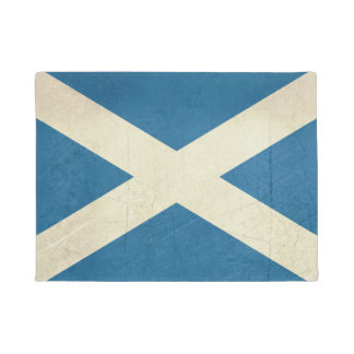Grunge Scottish Flag Illustration Doormat