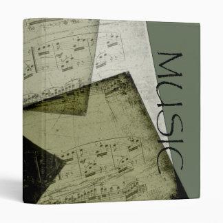 """Grunge Sheet Music 1"""" Binder"""