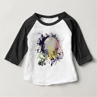 Grunge Silver Disco Ball 2 Baby T-Shirt