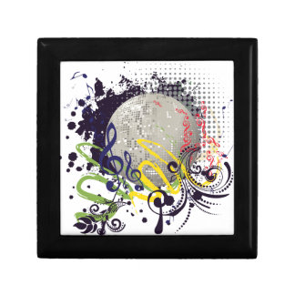 Grunge Silver Disco Ball 2 Gift Box
