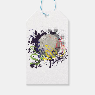 Grunge Silver Disco Ball 2 Gift Tags