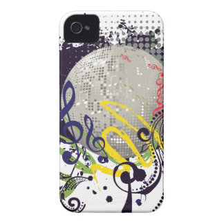 Grunge Silver Disco Ball 2 iPhone 4 Covers