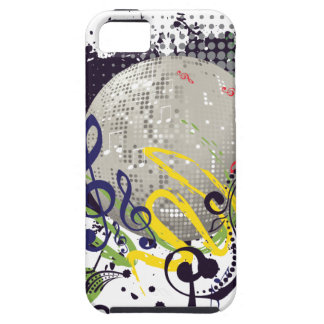 Grunge Silver Disco Ball 2 iPhone 5 Covers