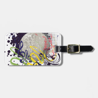 Grunge Silver Disco Ball 2 Luggage Tag