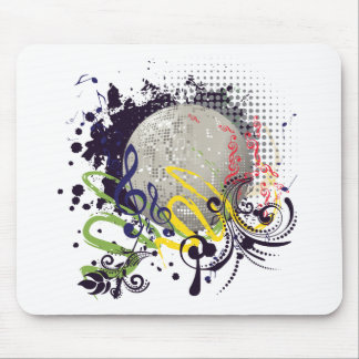 Grunge Silver Disco Ball 2 Mouse Pad