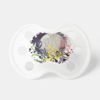 Grunge Silver Disco Ball 2 Pacifier