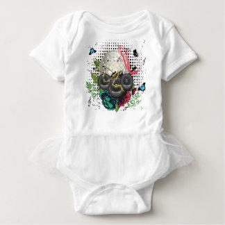 Grunge Silver Disco Ball Baby Bodysuit