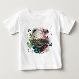 Grunge Silver Disco Ball Baby T-Shirt