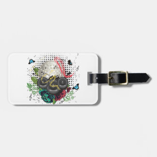 Grunge Silver Disco Ball Luggage Tag