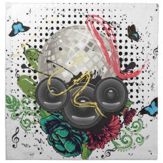 Grunge Silver Disco Ball Napkin