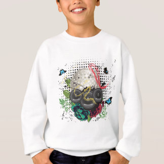 Grunge Silver Disco Ball Sweatshirt